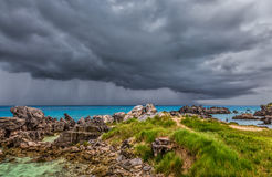 Thunderstorm at Tobacco Bay Beach in St. George`s Bermuda Stock Photography