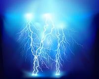 Thunderstorm. Vector illustration. Royalty Free Stock Photos