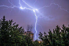 Thunderstorm in Warsaw Royalty Free Stock Photos