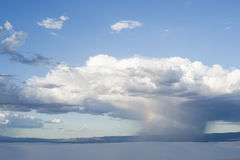 Thunderstorm at White Sands Stock Photography
