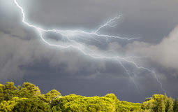 Thunderstorms approaching Corsica Stock Photos