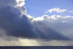 Thunderstorms forming at sea Royalty Free Stock Photography
