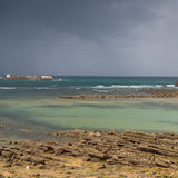 Thundery clouds above Atlantic coast Royalty Free Stock Image