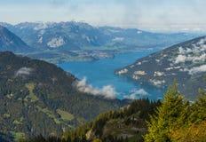 Thunersee em Berner Oberland fotografia de stock royalty free