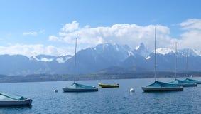Thunersee Schweiz Arkivfoton