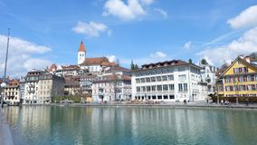 Thunersee Schweiz Arkivfoto