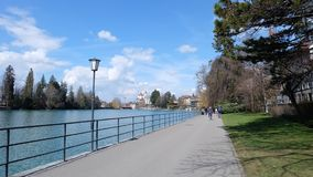 Thunersee, Suíça foto de stock