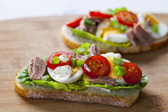 Thunfisch nicoise Sandwich Stockfotos