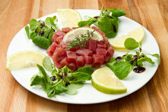 Thunfisch tartare Lizenzfreie Stockfotografie