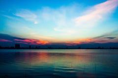 Sunset on Westlake Royalty Free Stock Photo