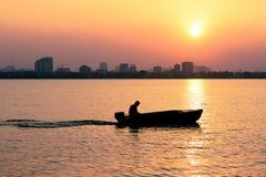 Sunset on Westlake. Hanoi, Vietnam Royalty Free Stock Photo