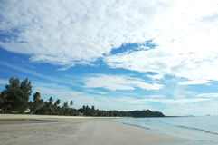 Thung sang beach. This bay has a wonderful view, with white, clean, sandy beach. By the side of the beach, there are a lot of shells, and coral reefs, Beaches in Royalty Free Stock Photos