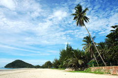 Thung sang beach. This bay has a wonderful view, with white, clean, sandy beach. By the side of the beach, there are a lot of shells, and coral reefs, Beaches in Stock Image