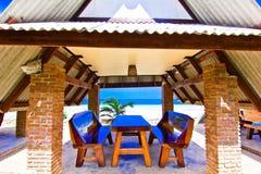Thung wua laen beach. A hut relaxes in beach sand Stock Photo