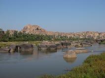 Thungabhandra River Royalty Free Stock Images