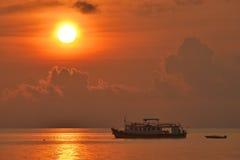 Thungwualaen strand i Thailand Fotografering för Bildbyråer