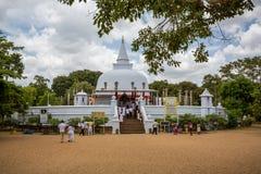 Thuparama Dagoba佛教寺庙在阿努拉德普勒 免版税图库摄影