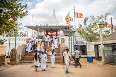 Thuparama Dagoba佛教寺庙在阿努拉德普勒 免版税库存图片