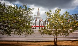 Thuparama Dagoba寺庙在斯里兰卡 库存图片