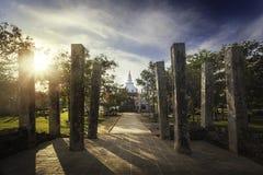 Thuparama Dagoba with beautiful columns, Anuradhapura Stock Photography