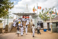 Thuparama Dagoba buddistisk tempel i Anuradhapura Arkivfoton