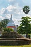 Thuparamaya dagoba in Anuradhapura, Sri Lanka Royalty Free Stock Photography