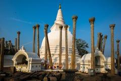 Thuparamaya dagoba stupa, Anuradhapura, Sri Lanka. It is considered to be the first dagaba built in Sri Lanka following the introduction of Buddhism Stock Photography