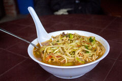 Thupka - una minestra di pasta tibetana Fotografia Stock Libera da Diritti