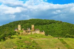 Thurant  Castle above Alken town on Moselle River, Rhineland-Pal Royalty Free Stock Photo