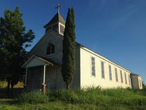 Thurber Church. This old church building is in Thurber Texas, an hour West of Fort Worth Royalty Free Stock Images
