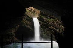 Thurfaelle 瀑布在Unterwasser,瑞士阿尔卑斯 库存照片