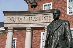 Thurgood Marshall monument, Annapolis, medicine doktor Arkivbilder