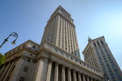 Thurgood Marshall United States Courthouse en Manhattan Municip Royalty-vrije Stock Foto's