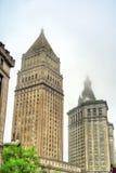Thurgood Marshall United States Courthouse och Manhattan kommunal byggnad i New York City Arkivfoto