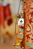 Thurible in orthodox chapel Stock Photography