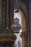 Thurible in Santiago de Compostela Cathedral Botafumeiro. Botafumeiro hanging on Santiago de Compostela Cathedral, Galicia, Spain. Botafumeiro is used in Royalty Free Stock Image
