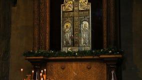 Thurible in Svetitskhoveli Cathedral stock video