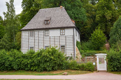 Thuringia Alemanha da opinião do parque do jardim da casa de Weimar Goethe imagem de stock royalty free