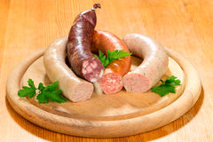 Thuringia sausage Royalty Free Stock Image
