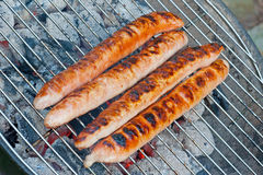 Thuringian sausage. (Thüringer Rostbratwurst), a spicy sausage, is a delicacy from Thuringia Stock Image