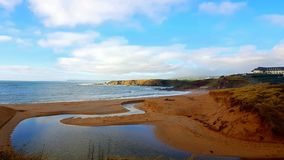 Thurlestone beach South Devon England UK. Thurlestone Milton beach South Devon England UK near Kingsbridge and Hope Cove in fine winter sunny weather of the stock image