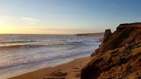 Thurlestone beach South Devon England UK. Thurlestone Milton beach South Devon England UK near Kingsbridge and Hope Cove in fine winter suny weather of the royalty free stock photo