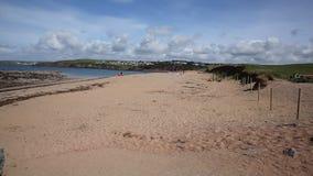 Thurlestone beach South Devon England UK near Kingsbridge and Hope Cove stock footage