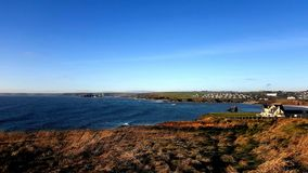 Thurlestone beach South Devon England UK. Thurlestone Milton beach South Devon England UK near Kingsbridge and Hope Cove in fine winter sunny weather of the royalty free stock image