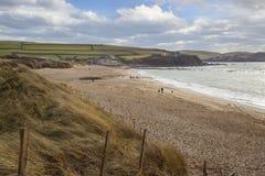 Thurlestone zatoka, Devon, Anglia Zdjęcie Stock