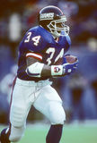 Thurman Thomas. Buffalo Bills RB Thurman Thomas, #34. (Image taken from a color slide royalty free stock images