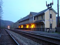 Thurmond, W Va Depósito de tren fotos de archivo libres de regalías