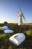 Thurne Windpump, Norfolk Broads Zdjęcia Stock