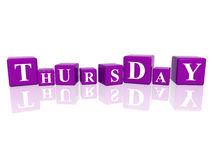 Thursday in 3d cubes Stock Photography