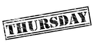 Thursday black stamp. Isolated on white background Stock Image